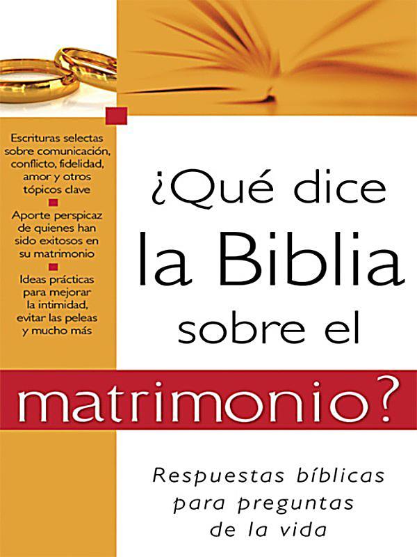 Matrimonio Biblia Quiz : Qué dice la biblia sobre el matrimonio ebook weltbild