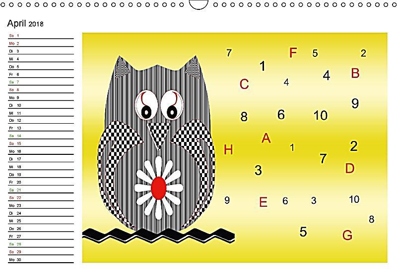 r tselspass f r kinder ab 4 jahren wandkalender 2018 din a3 quer kalender bestellen. Black Bedroom Furniture Sets. Home Design Ideas