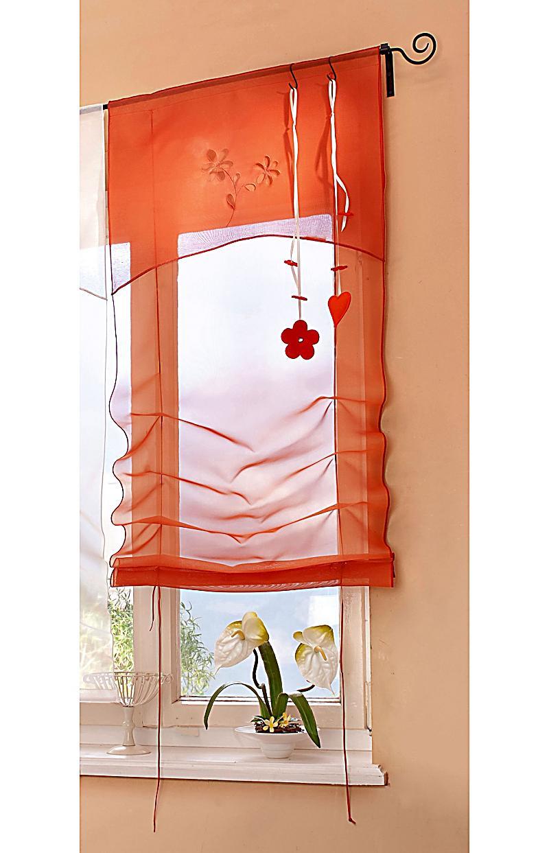 raffrollo 45cm farbe orange jetzt bei bestellen. Black Bedroom Furniture Sets. Home Design Ideas
