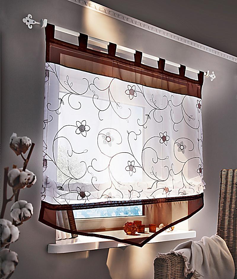 raffrollo bl tenzauber gr e 120 x 140 cm. Black Bedroom Furniture Sets. Home Design Ideas