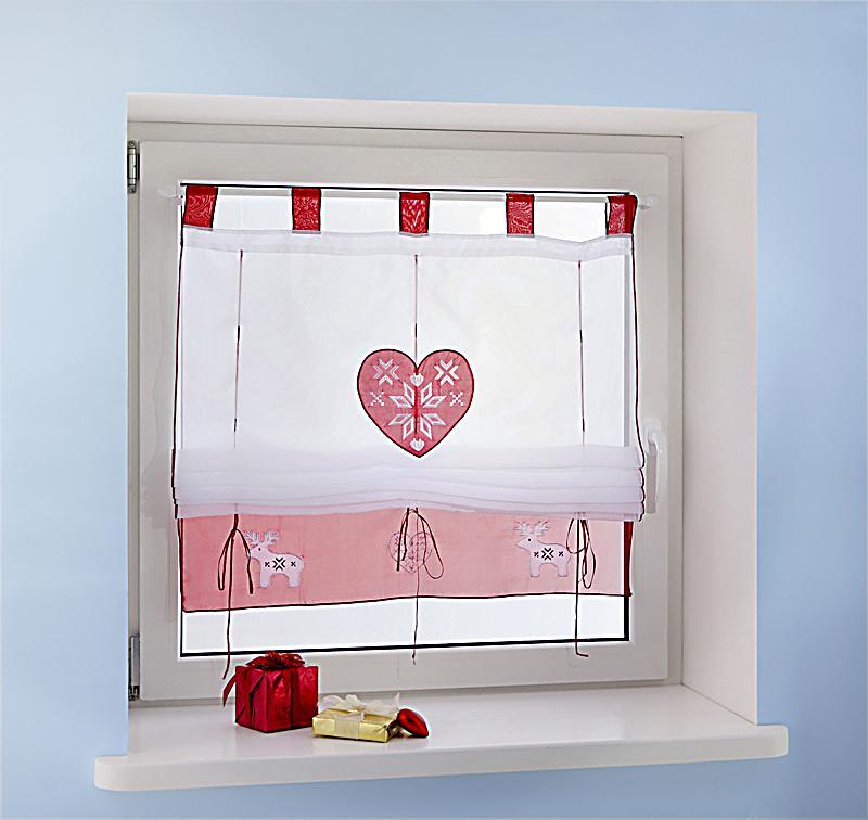 raffrollo h ttenzauber gr e 120 x 140 cm. Black Bedroom Furniture Sets. Home Design Ideas