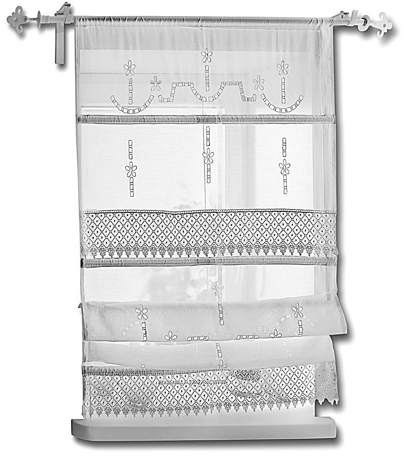 raffrollo spitze gr e 120 x 140 cm bestellen. Black Bedroom Furniture Sets. Home Design Ideas