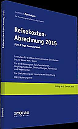 reisekosten abrechnungen formularblock 2015 buch portofrei. Black Bedroom Furniture Sets. Home Design Ideas