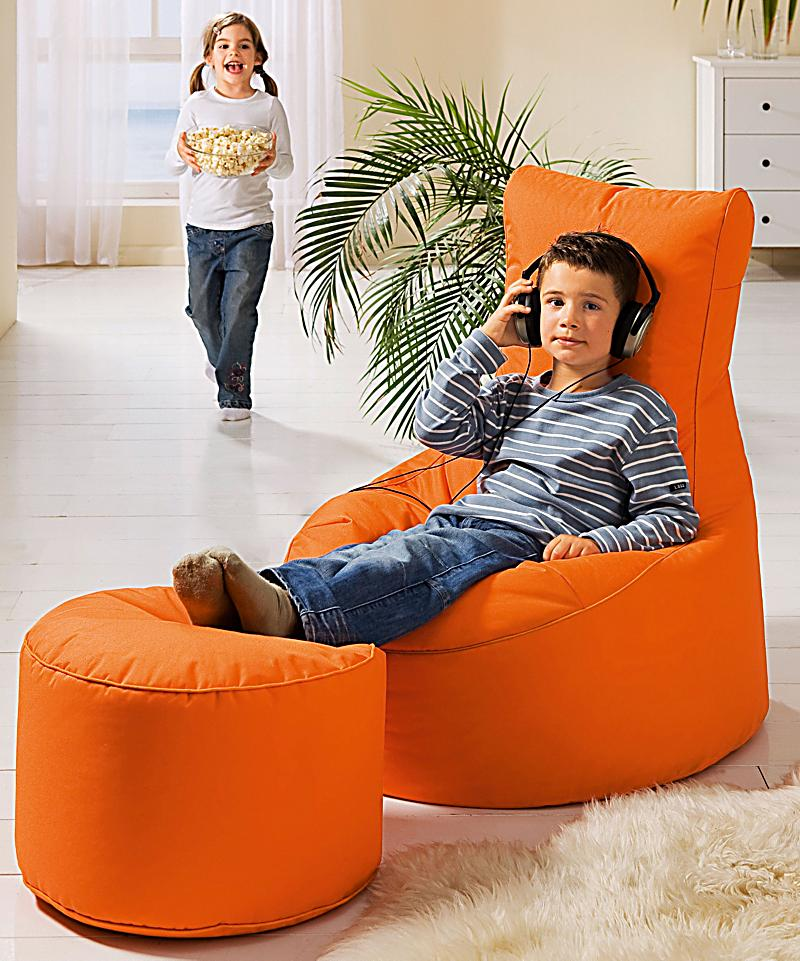 relax it sitzsack swing und hocker dot com farbe orange. Black Bedroom Furniture Sets. Home Design Ideas
