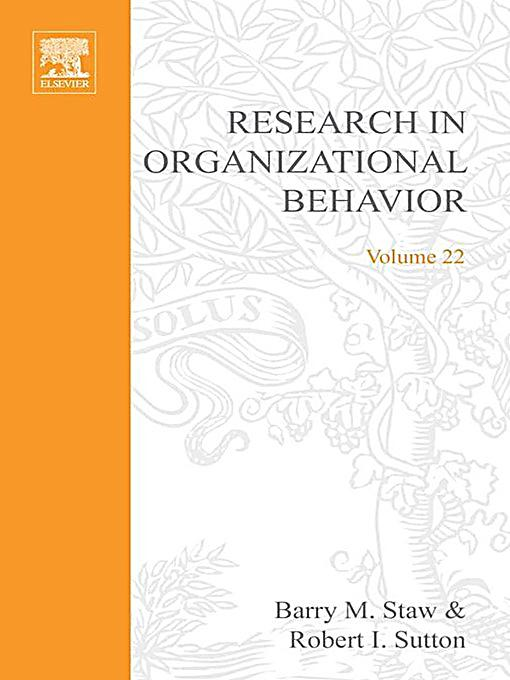 research papers in organizational behavior Read this social issues research paper and over 88,000 other research documents organizational behavior the attribution theory is a process by which individuals attempt to explain the why of behavior as based on people's.