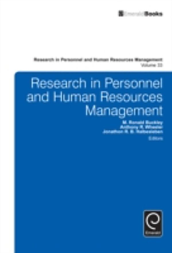 research in personnel and human resource management Dr huselid's articles focus on the linkages between human resource management and research in personnel and human resource articles follows, along with.