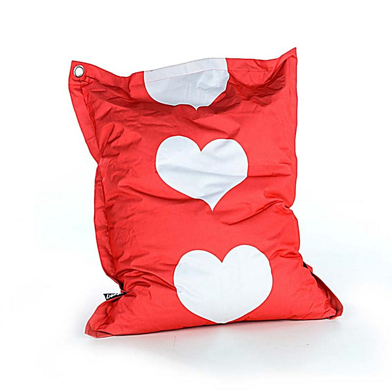 riesen sitzkissen herzen rot weiss bestellen. Black Bedroom Furniture Sets. Home Design Ideas