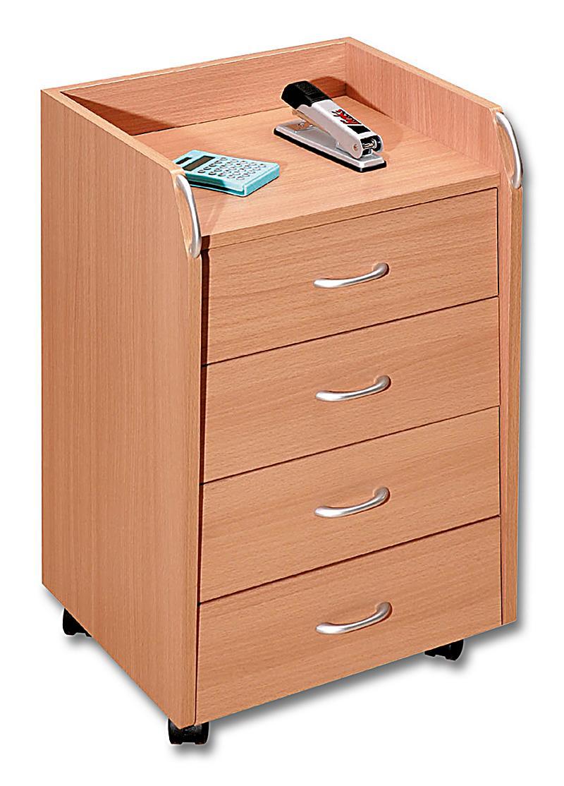 rollcontainer pronto farbe buche jetzt bei bestellen. Black Bedroom Furniture Sets. Home Design Ideas