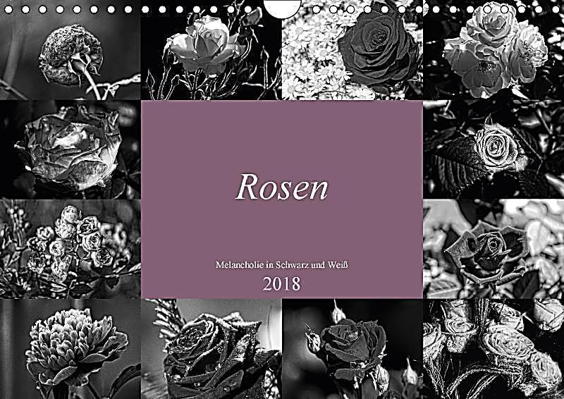 rosen melancholie in schwarz und weiss 2018 wandkalender 2018 din a4 quer kalender bestellen. Black Bedroom Furniture Sets. Home Design Ideas