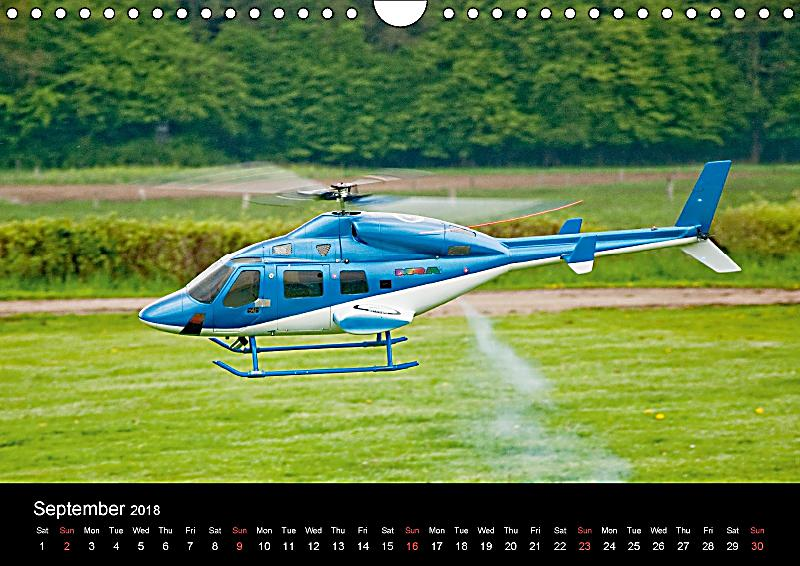 Scale Helicopters UK-Version Wall Calendar 2018 DIN A4 ...