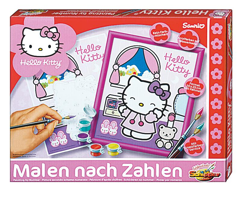 schipper malen nach zahlen hello kitty im schlafzimmer. Black Bedroom Furniture Sets. Home Design Ideas