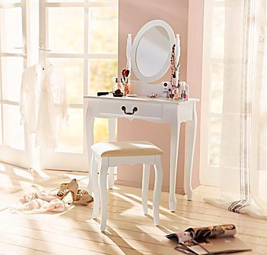 schminktisch mit hocker jetzt bei bestellen. Black Bedroom Furniture Sets. Home Design Ideas