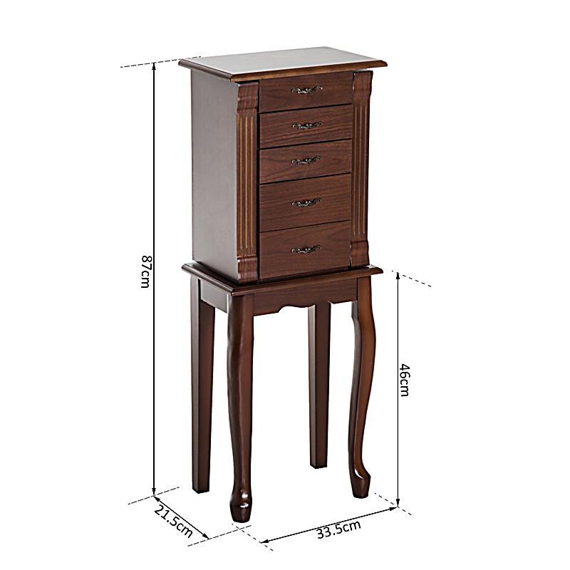 schmuckschrank mit spiegel farbe braun bestellen. Black Bedroom Furniture Sets. Home Design Ideas