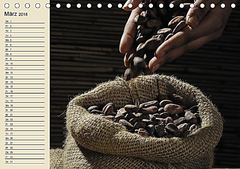 schokolade von der kakaobohne zur k stlichkeit tischkalender 2018 din a5 quer dieser. Black Bedroom Furniture Sets. Home Design Ideas