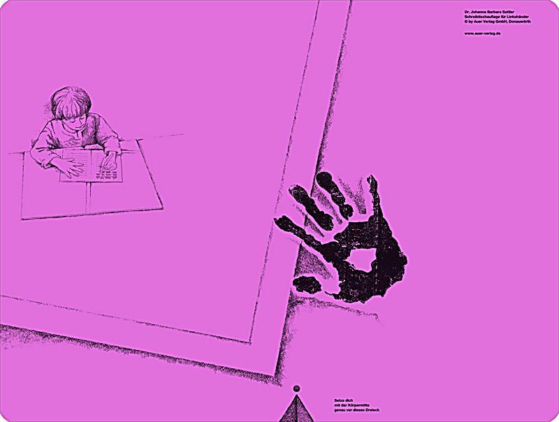 schreibtisch auflage f r linksh nder pink johanna b sattler. Black Bedroom Furniture Sets. Home Design Ideas