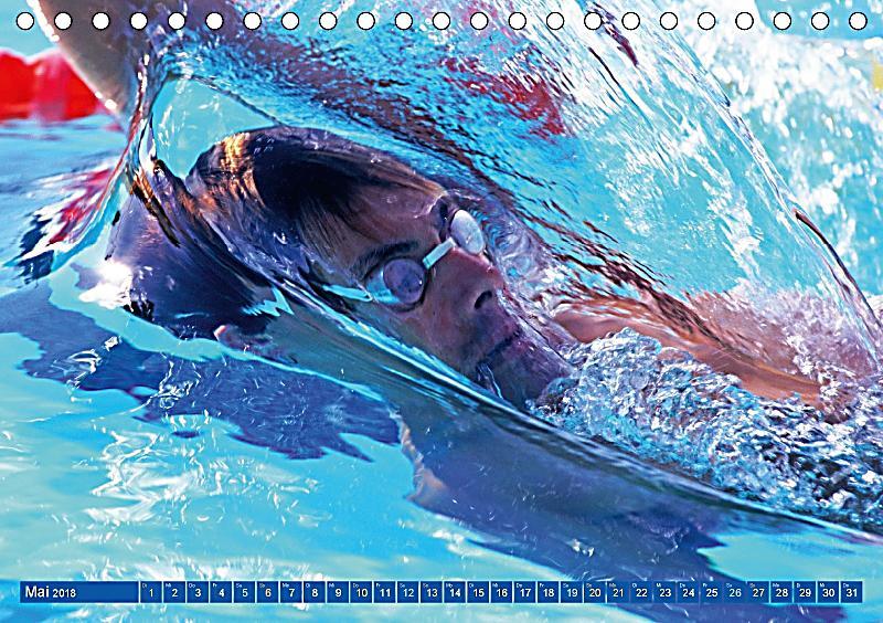 schwimmen sport auf blauen bahnen tischkalender 2018 din a5 quer kalender bestellen. Black Bedroom Furniture Sets. Home Design Ideas