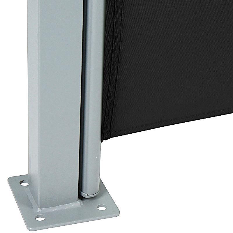seitenmarkise schwarz 180 x 300 cm bestellen. Black Bedroom Furniture Sets. Home Design Ideas