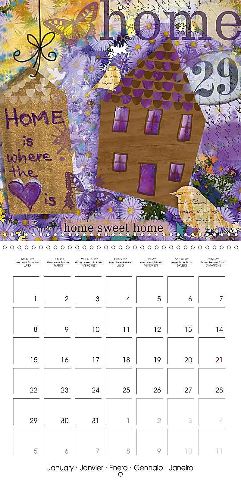Art Calendar Book : Sheets from an art book wall calendar mm