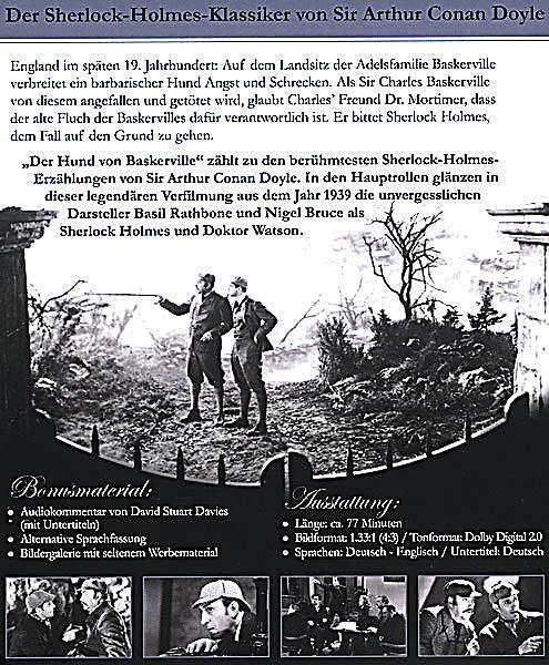Sherlock holmes der hund von baskerville dvd dvd for Der hund von baskerville