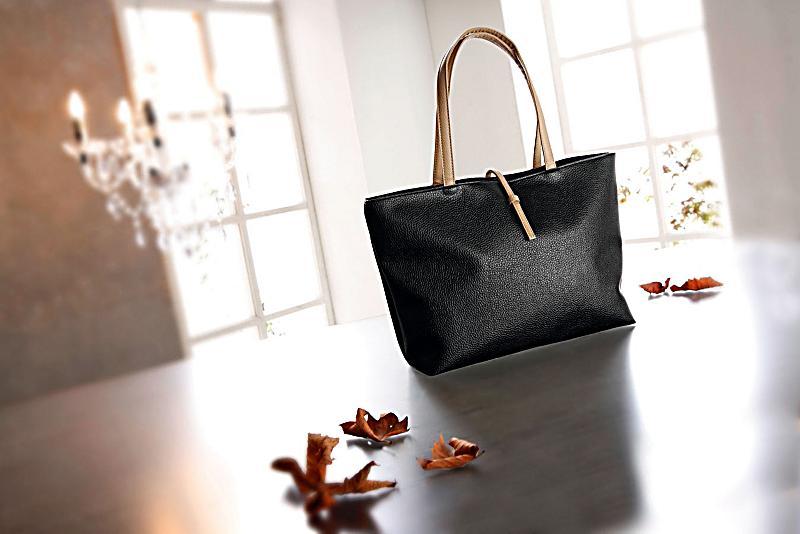 shopper tasche florenz kunstleder farbe schwarz. Black Bedroom Furniture Sets. Home Design Ideas