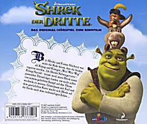 shrek 3 das original h rspiel zum kinofilm h rbuch. Black Bedroom Furniture Sets. Home Design Ideas