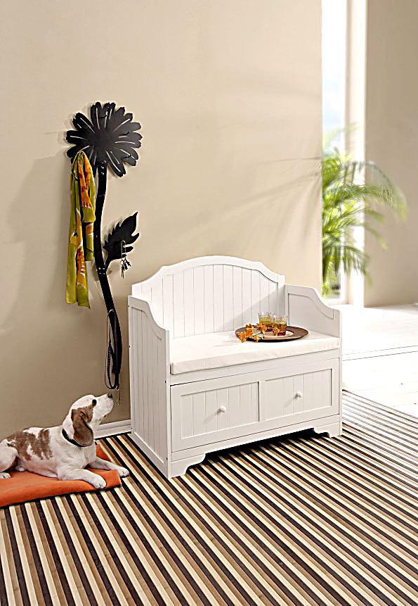 sitzbank mit schublade farbe wei bestellen. Black Bedroom Furniture Sets. Home Design Ideas