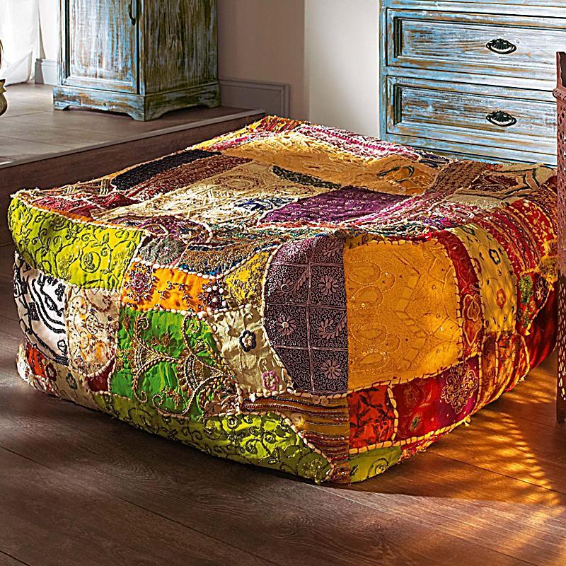 sitzkissen patchwork bunt jetzt bei bestellen. Black Bedroom Furniture Sets. Home Design Ideas