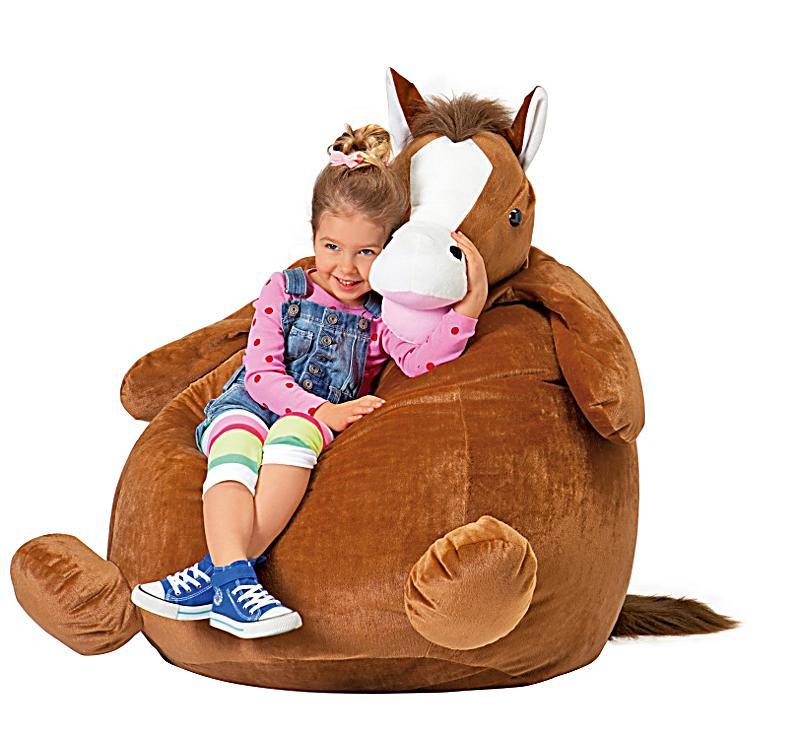 """Sitzsack - Bean Bag """"Pferd Goldie"""", braun - Produktdetailbild 2"""