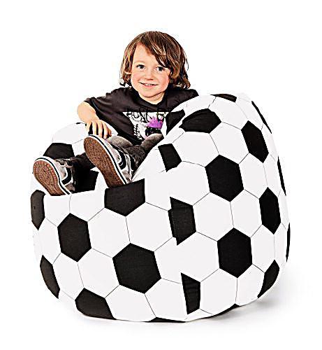 sitzsack big bag xl motiv fussball bestellen. Black Bedroom Furniture Sets. Home Design Ideas