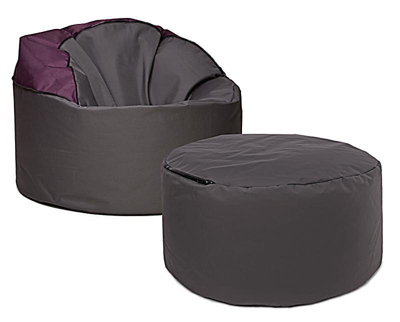 sitzsack tube 2in1 scuba farbe aubergine bestellen. Black Bedroom Furniture Sets. Home Design Ideas