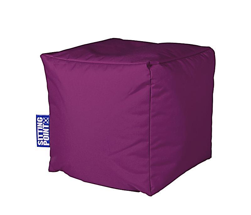 sitzw rfel cube scuba farbe aubergine. Black Bedroom Furniture Sets. Home Design Ideas