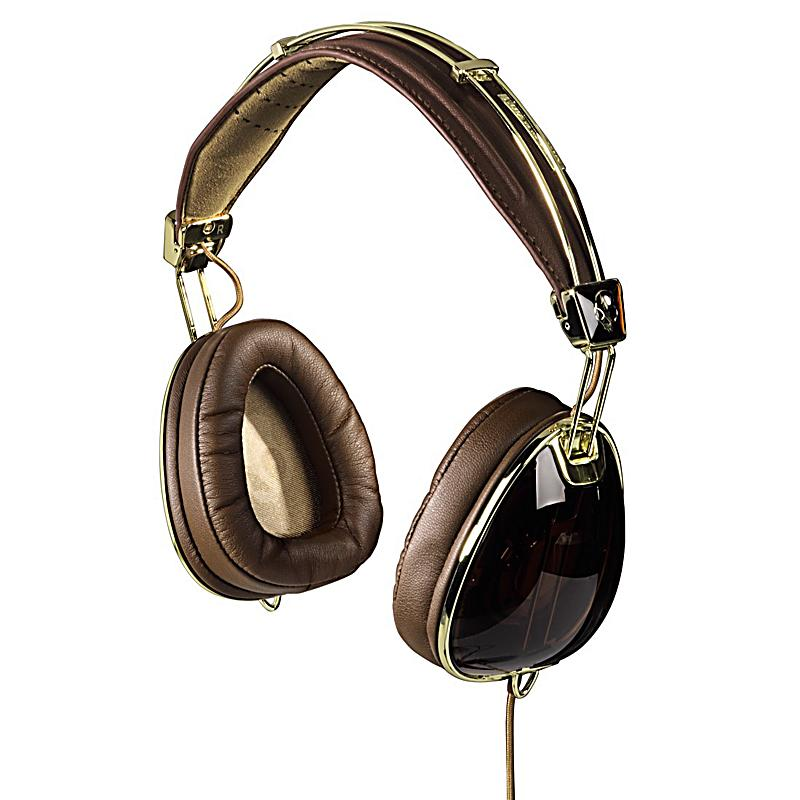 skullcandy over ear kopfh rer aviator braun gold. Black Bedroom Furniture Sets. Home Design Ideas