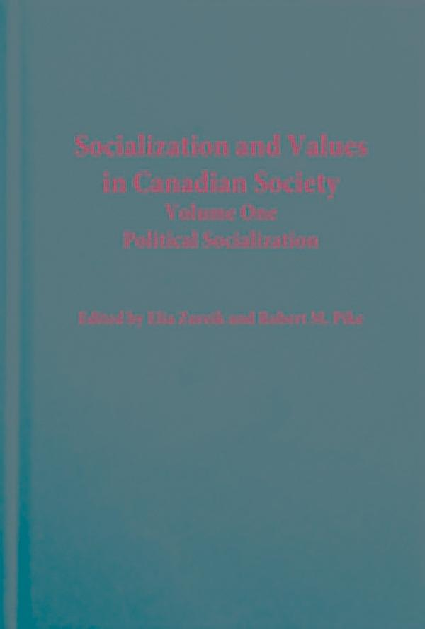 political socialization in canada Full-text paper (pdf): the political socialization of adolescents in canada:  differential effects of civic education on visible minorities.