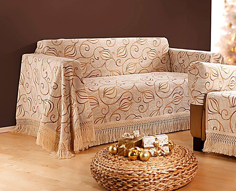 sofa berwurf fioccino 155x270cm farbe natur. Black Bedroom Furniture Sets. Home Design Ideas