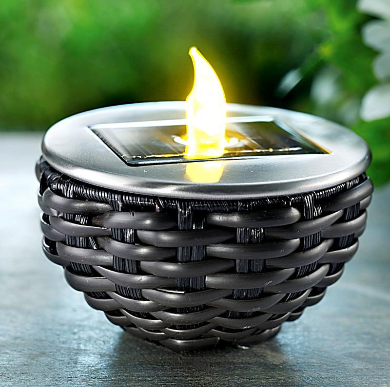 solar tischleuchte rattan jetzt bei bestellen. Black Bedroom Furniture Sets. Home Design Ideas