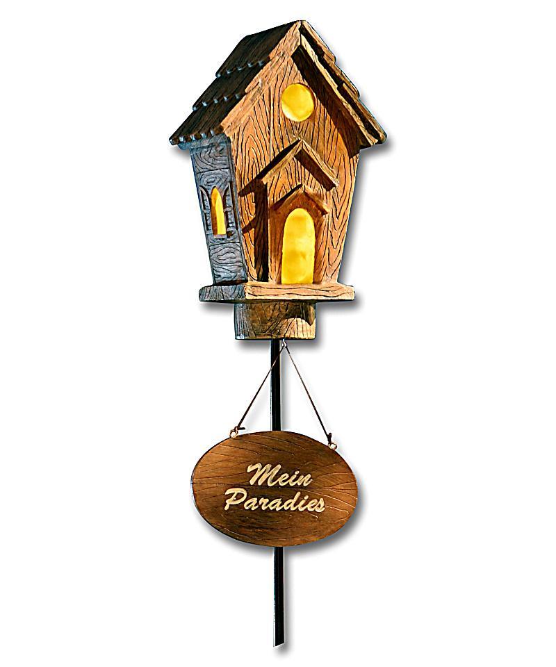 solar vogelhaus mit pflanztopf jetzt bei bestellen. Black Bedroom Furniture Sets. Home Design Ideas