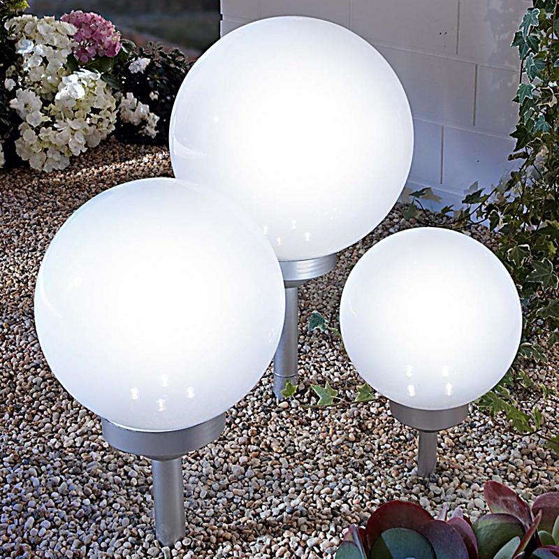 solarleuchten set ball zum stecken 3 tlg. Black Bedroom Furniture Sets. Home Design Ideas