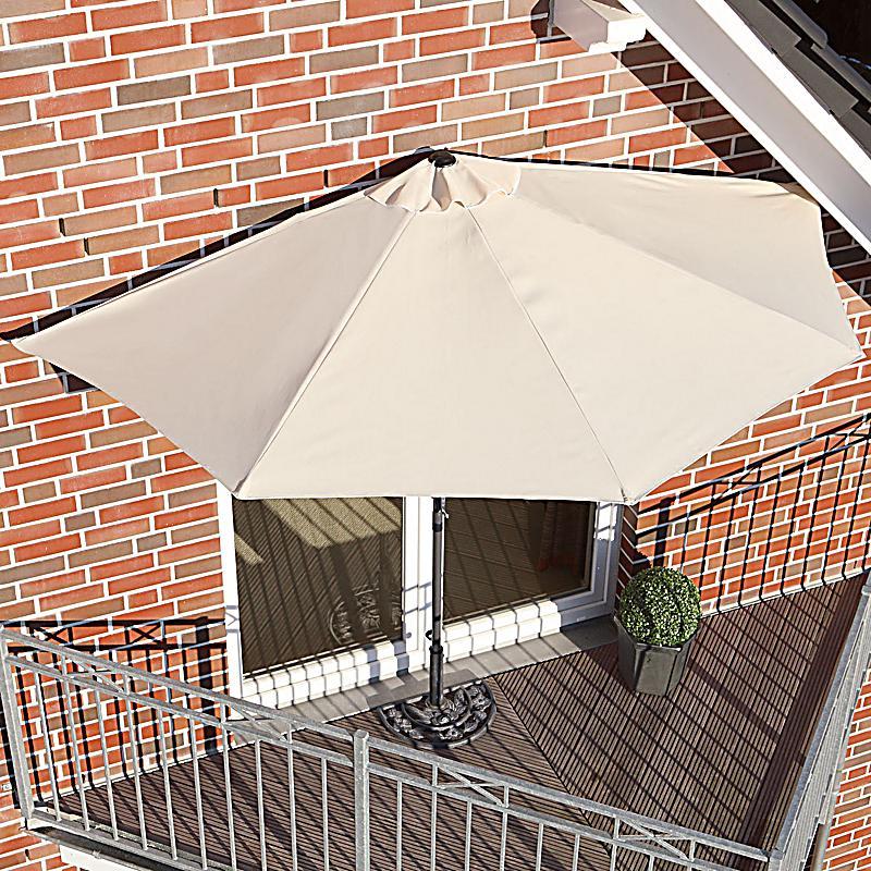 sonnenschirm halbrund dunkelbeige bestellen. Black Bedroom Furniture Sets. Home Design Ideas