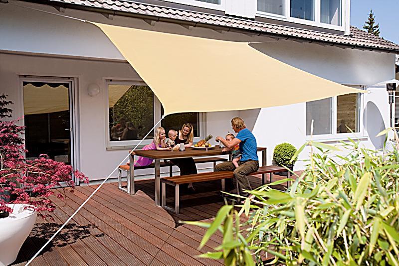 sonnensegel quadrat 3 x 3 m beige bestellen. Black Bedroom Furniture Sets. Home Design Ideas