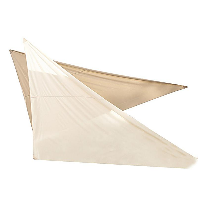 sonnensegel shade polyester zum aufh ngen 3x4x5m beige. Black Bedroom Furniture Sets. Home Design Ideas