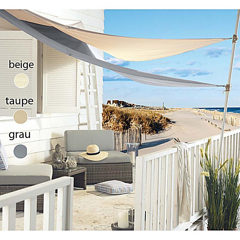 sonnensegel shadeaus 100 polyester zum aufh ngen 3 x 4 x 5m grau. Black Bedroom Furniture Sets. Home Design Ideas