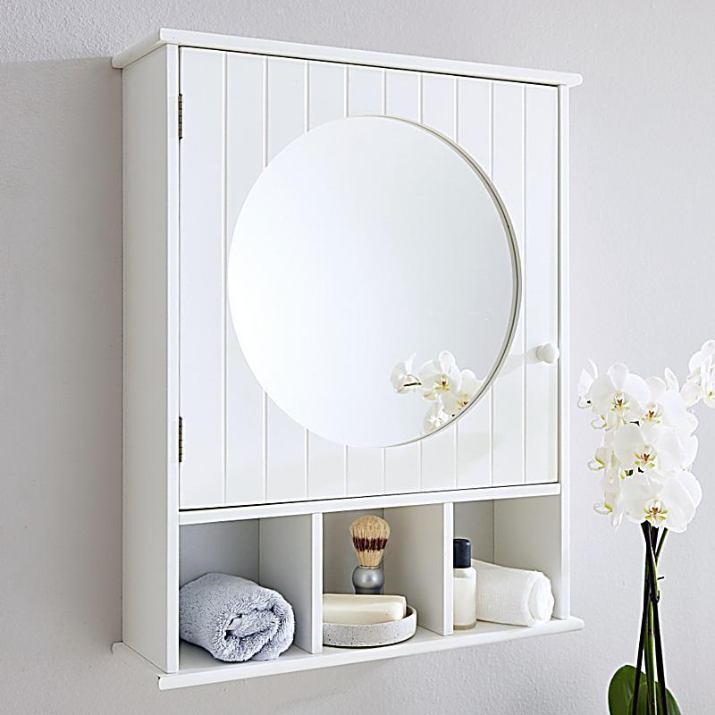 Spiegelschrank rund Weiß jetzt bei Weltbild.de bestellen