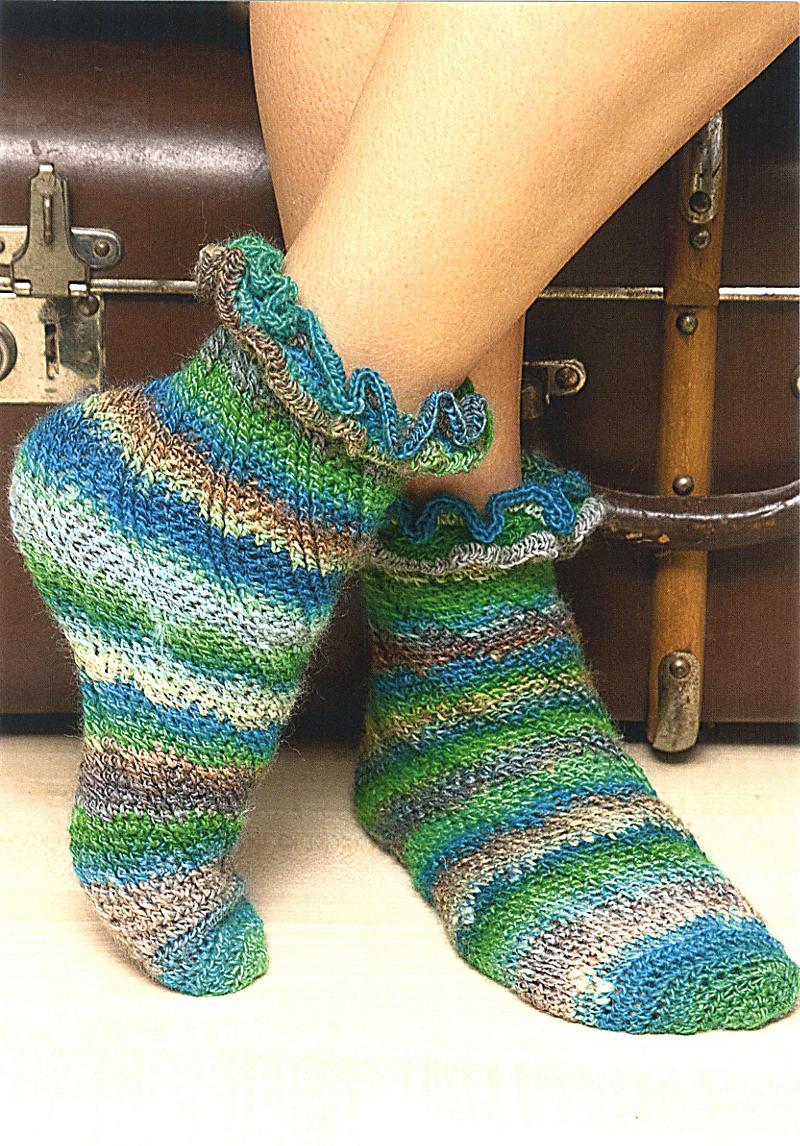 Modern Häkeln Boot Socke Muster Embellishment - Decke Stricken ...