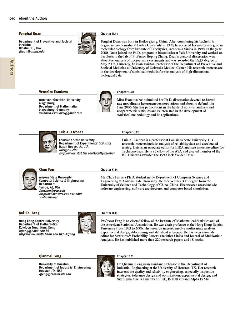 Engineering Statistics by George C. Runger, Douglas C. Montgomery 5E Hubele