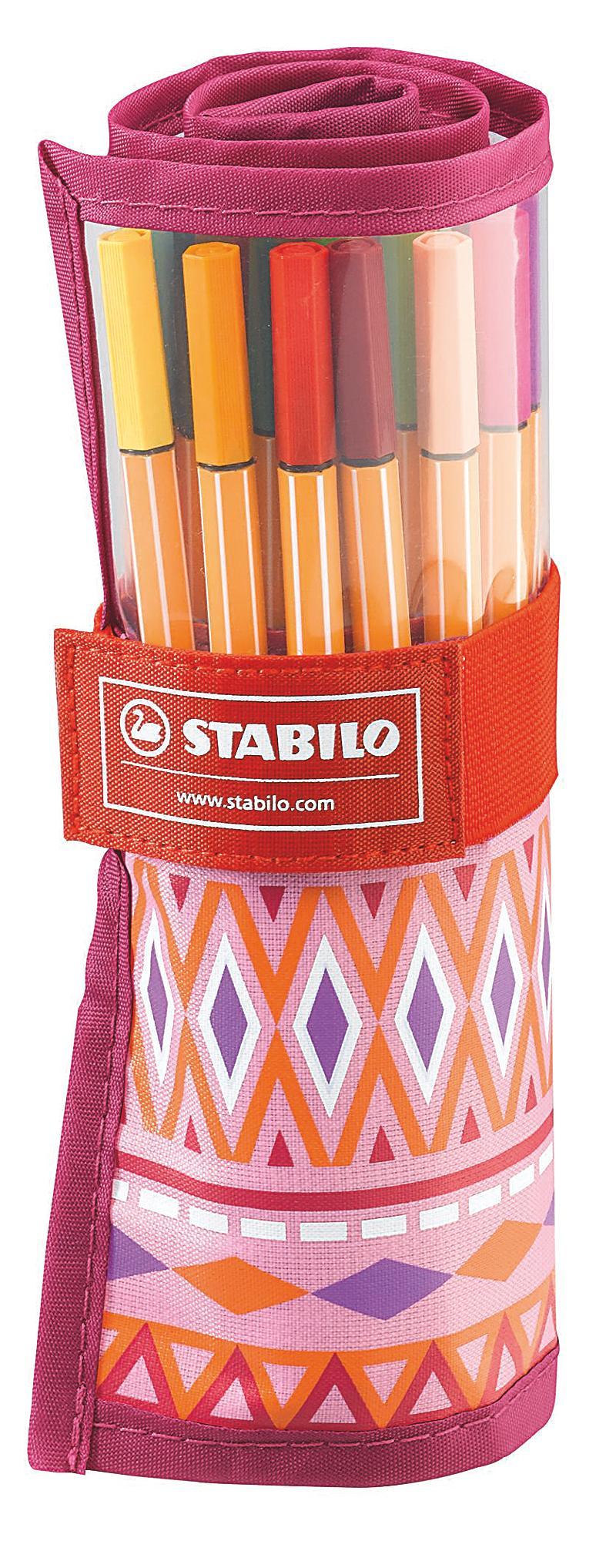 stabilo point 88 25er rollerset festival spirit pink rosa. Black Bedroom Furniture Sets. Home Design Ideas