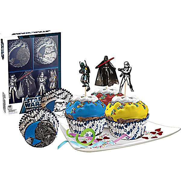 Star wars muffin deko set galactic empire 48 teilig for Star wars deko