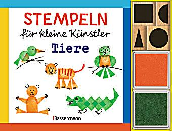 stempeln f r kleine k nstler tiere set buch. Black Bedroom Furniture Sets. Home Design Ideas