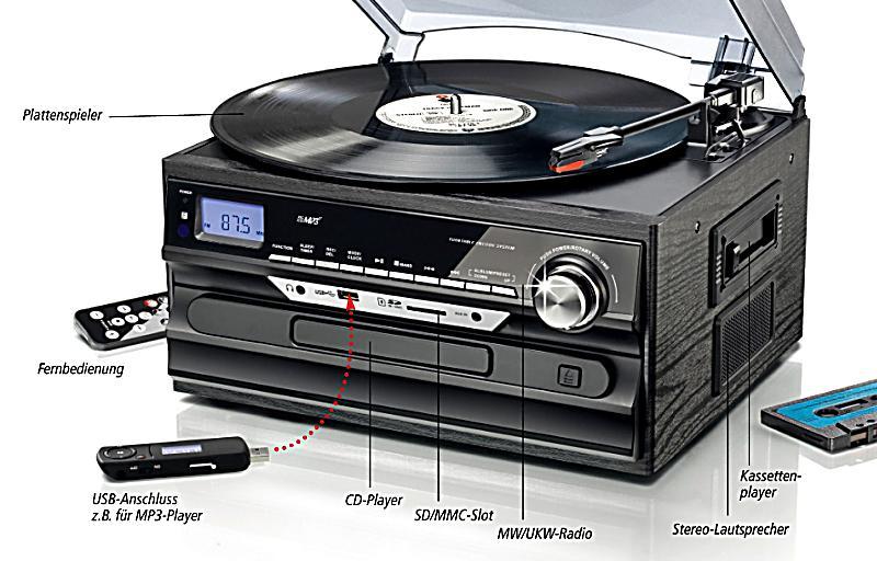 stereoanlage mit aufnahmefunktion jetzt bei bestellen. Black Bedroom Furniture Sets. Home Design Ideas