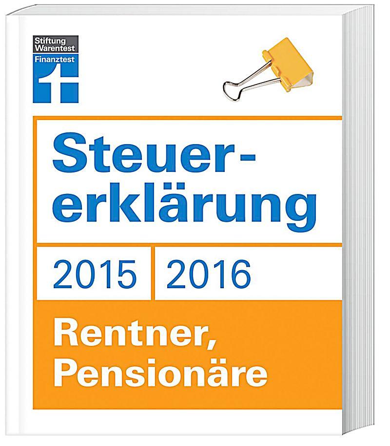 steuererkl rung 2015 2016 rentner pension re buch portofrei. Black Bedroom Furniture Sets. Home Design Ideas