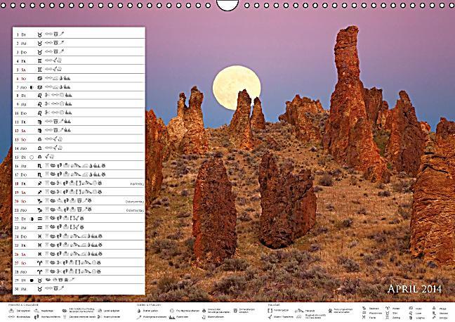 stimmungsvolles mondlicht mondkalender wandkalender 2014. Black Bedroom Furniture Sets. Home Design Ideas